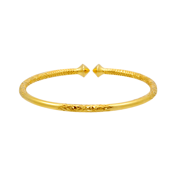 14k y/g Old Time Bangle