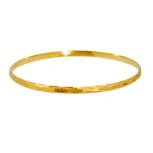 Diamond Cut designed Bangle 14k y/g