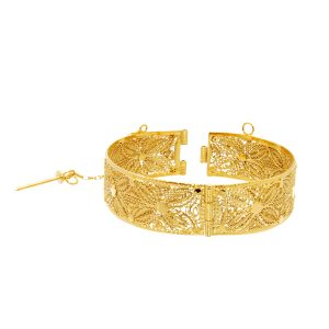 Filligrie Bangle 14k y/g