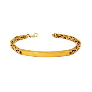 14k Bizzantine ID Gents Band