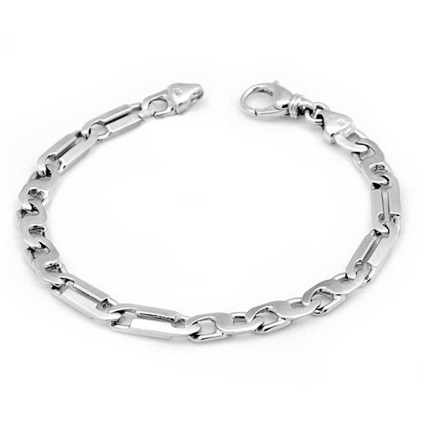 14k w/g 8 Link Gents Bracelet