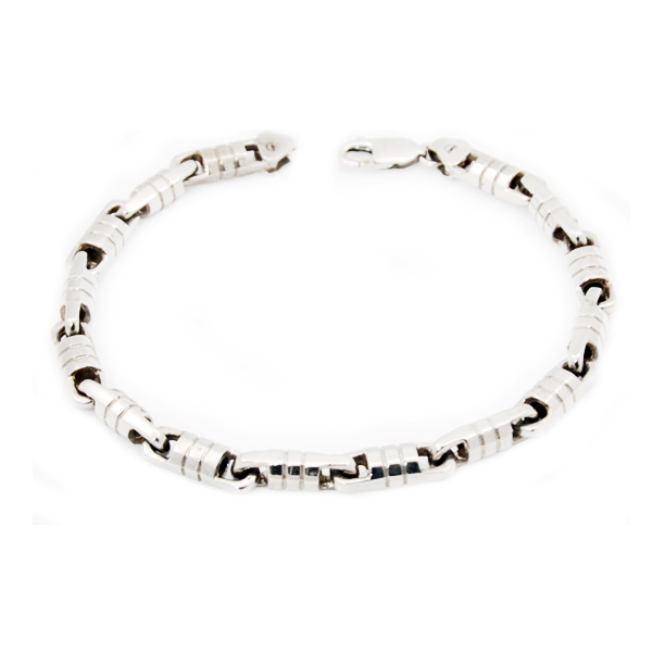 14k w/g George Link Gents Bracelet
