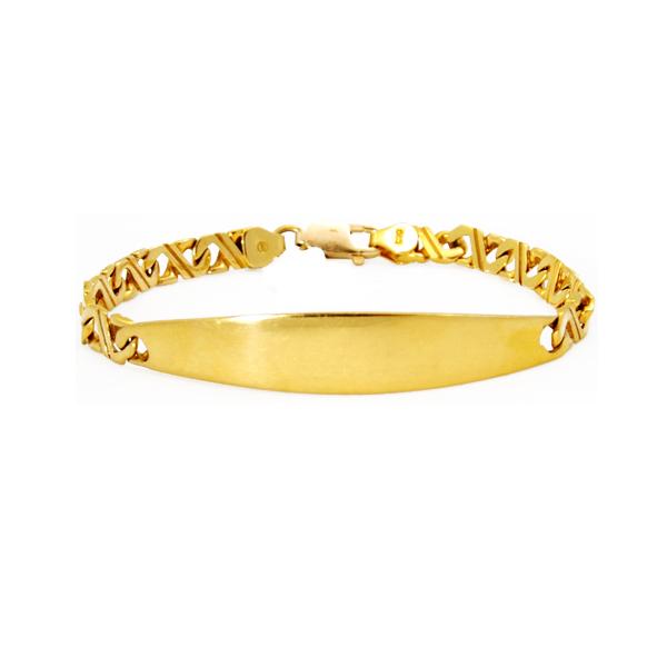 14k y/g 8 link ID gents bracelet