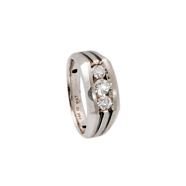 14k w/g Diamond weight .75ct