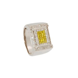 14k w/g with Yellow Diamonds