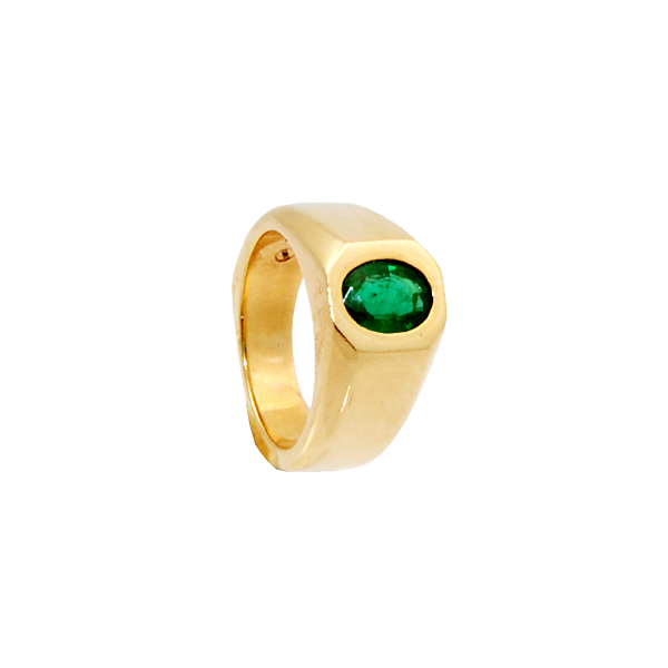 14k w/g Gents Emerald 1.67ct