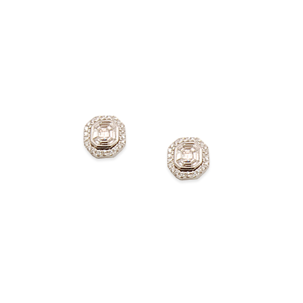 Diamond 1.35ct 14k w/g Studs