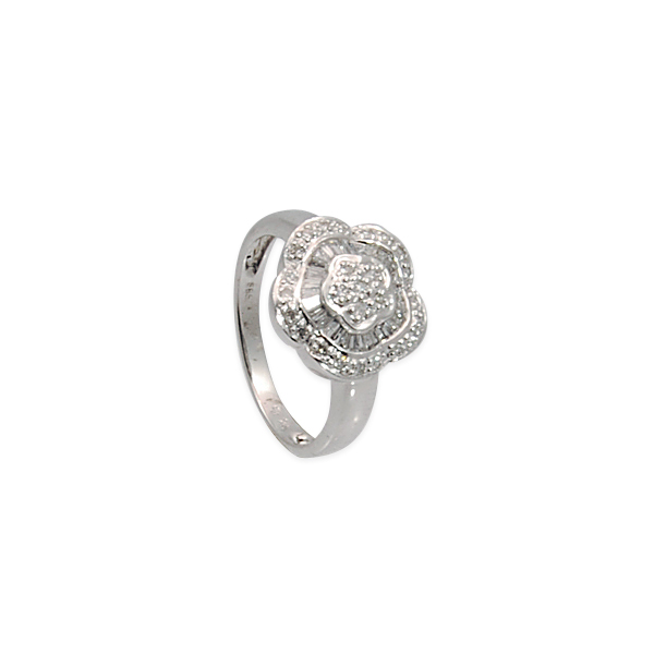 14k w/g Diamond .34ct Flower Ring